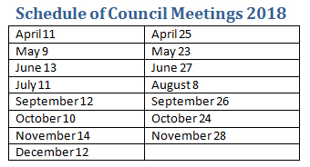 Township of Evanturel Council meetings